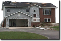 hail damage to house